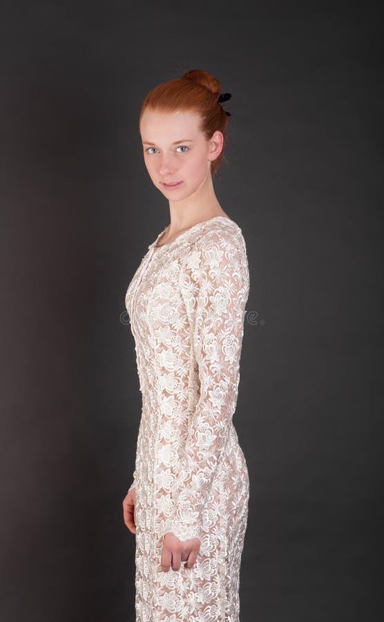 Portret van slank meisje royalty-vrije stock fotografie