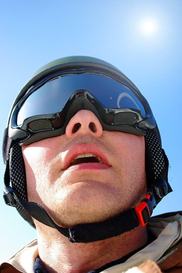 Portret van snowboarder royalty-vrije stock fotografie