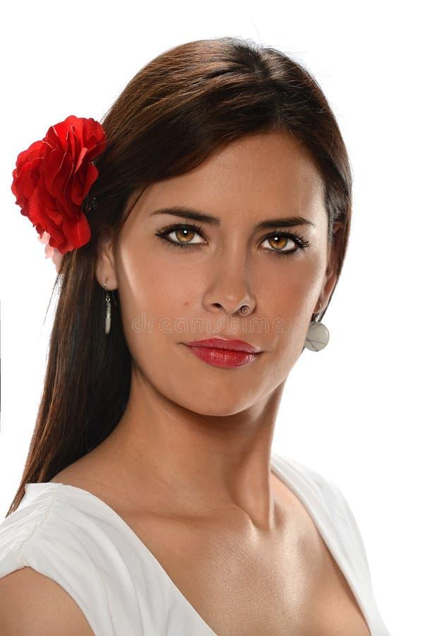 Portret van Spaanse Vrouw royalty-vrije stock fotografie