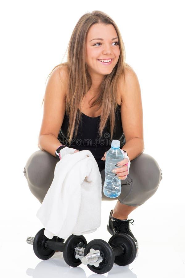 Portret van Sportief meisje stock foto's
