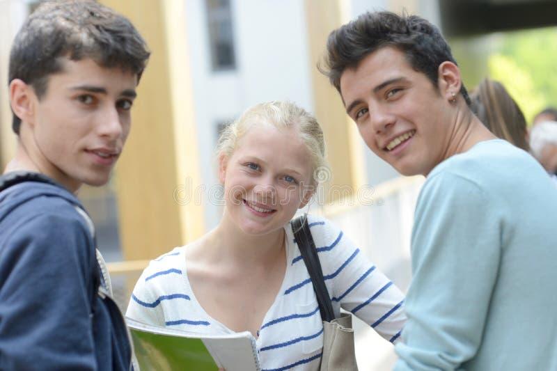Portret van studenten stock afbeeldingen