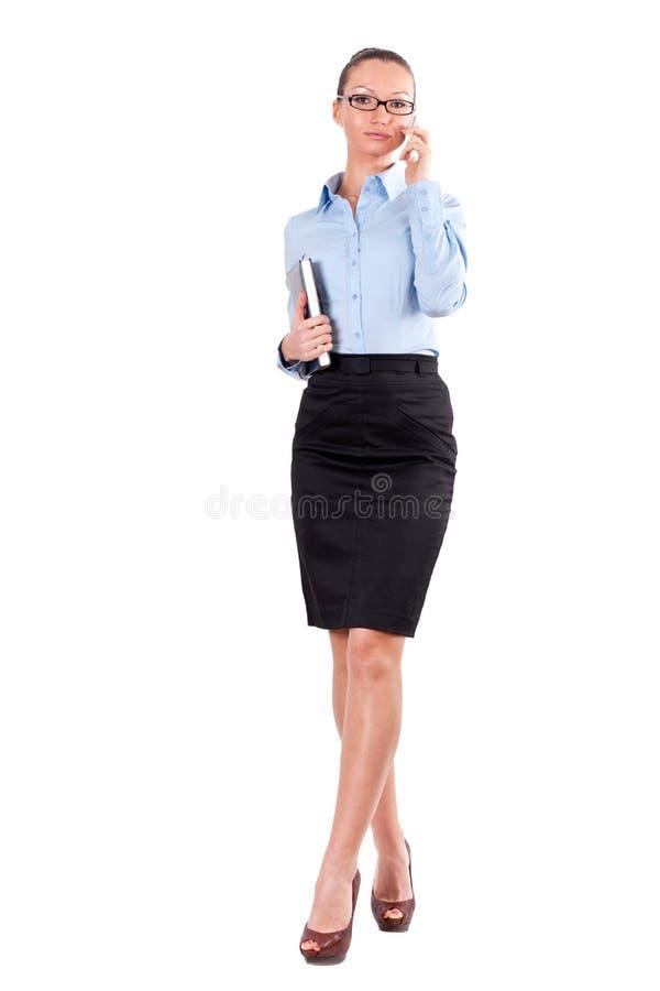 Portret van succesvolle bedrijfsvrouw stock foto
