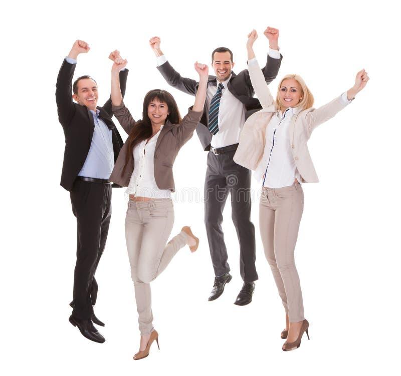 Portret van succesvolle commerciële groep royalty-vrije stock foto's