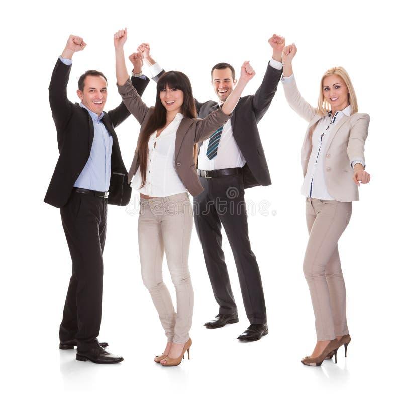 Portret van succesvolle commerciële groep stock fotografie