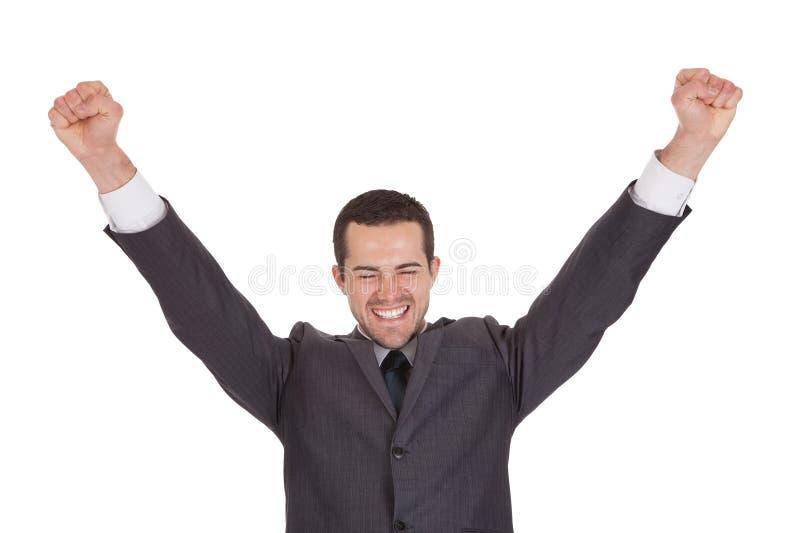Portret van succesvolle zakenman stock afbeelding