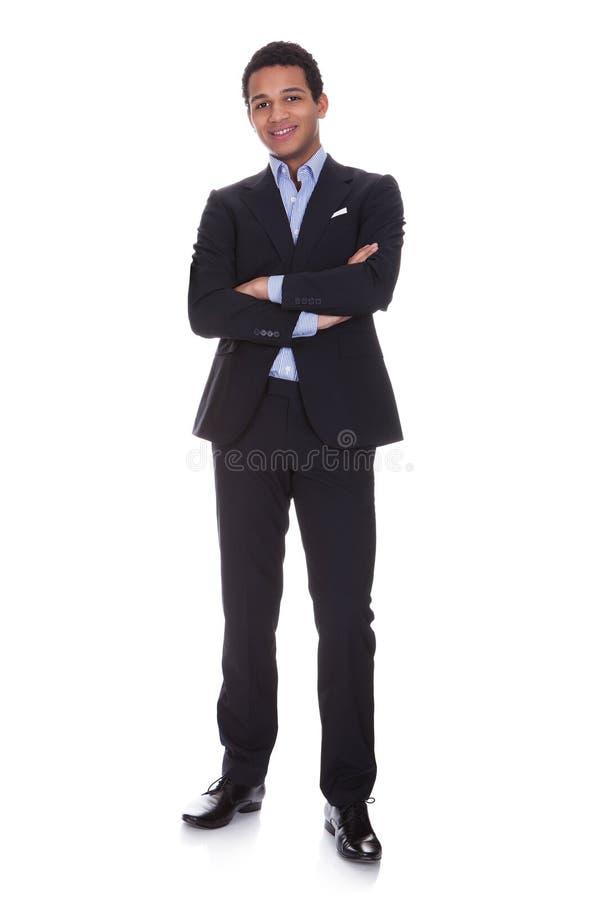 Portret van succesvolle zakenman stock foto's