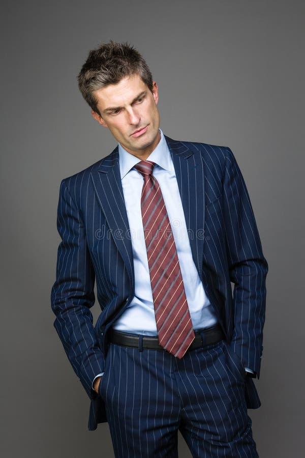 Portret van teleurgestelde zakenman royalty-vrije stock foto