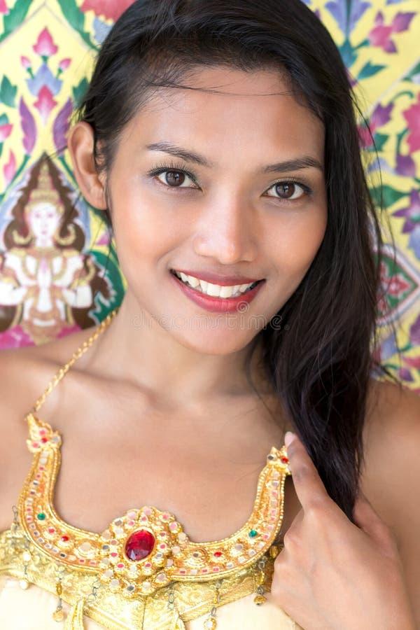 Portret van Thaise dame stock fotografie