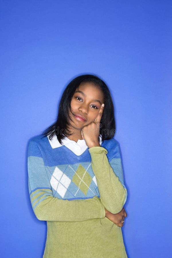 Portret van tienermeisje. royalty-vrije stock fotografie