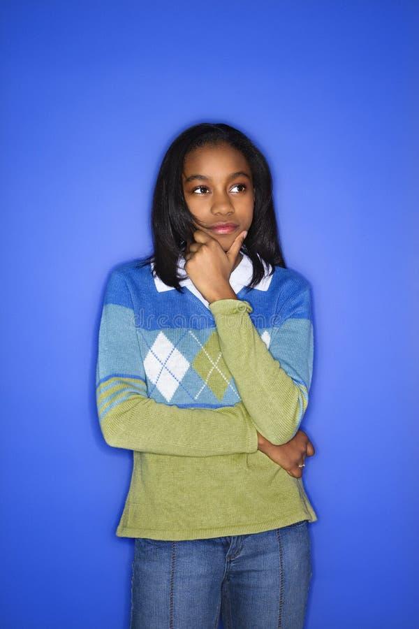 Portret van tienermeisje. royalty-vrije stock foto's