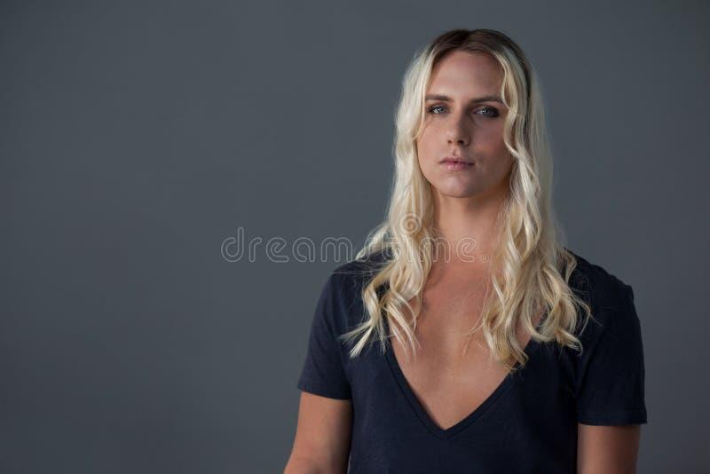 Portret van transsexueelvrouw royalty-vrije stock afbeelding
