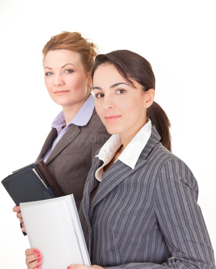 Portret van twee bedrijfsvrouwen royalty-vrije stock foto's