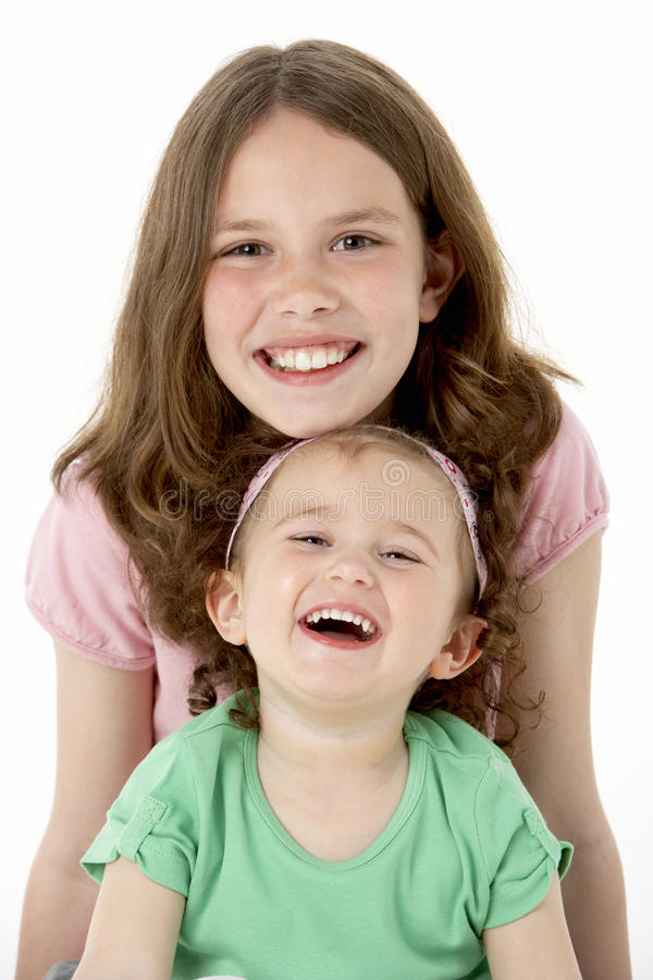 Portret van Twee Jonge Meisjes royalty-vrije stock foto's