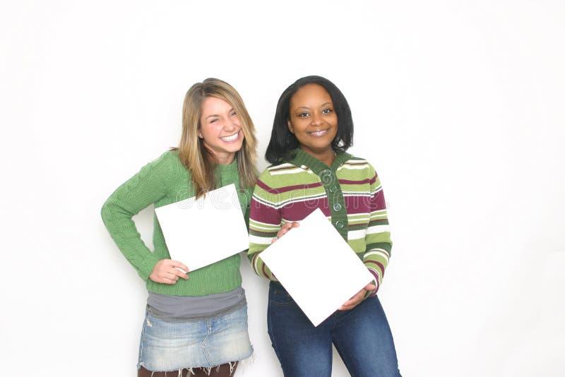 Portret van twee meisjes stock afbeeldingen