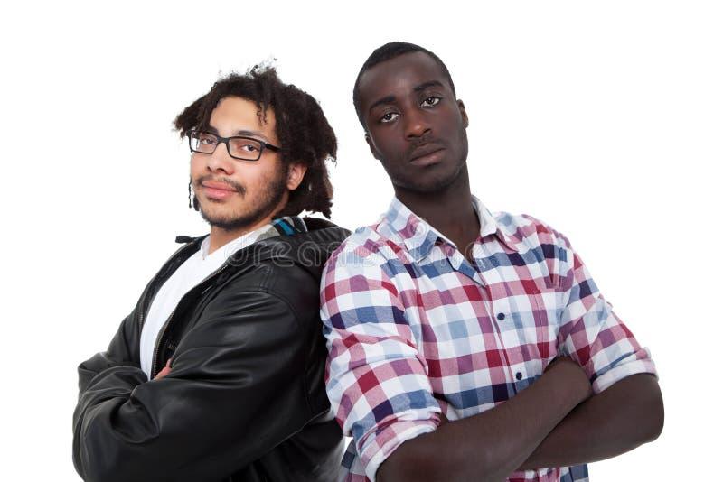 Portret van Twee Vrienden stock afbeeldingen