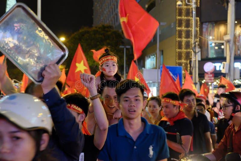 Portret van Vietnamese voetbalverdediger royalty-vrije stock foto's