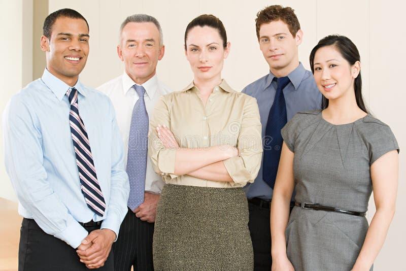 Portret van vijf bedrijfscollega's royalty-vrije stock foto's