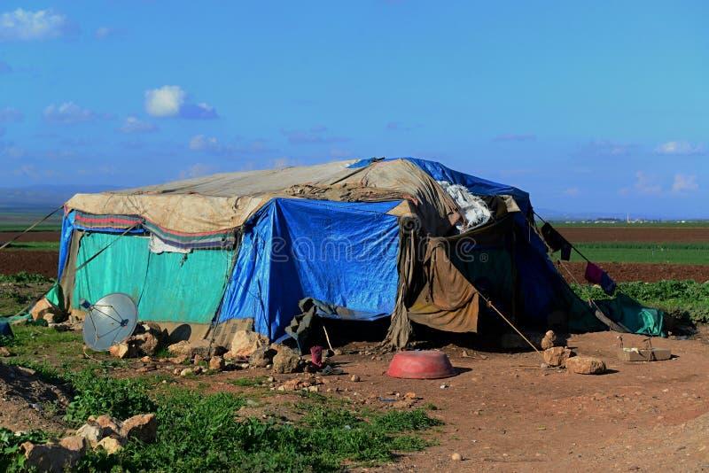 Portret van vluchtelingen stock foto's