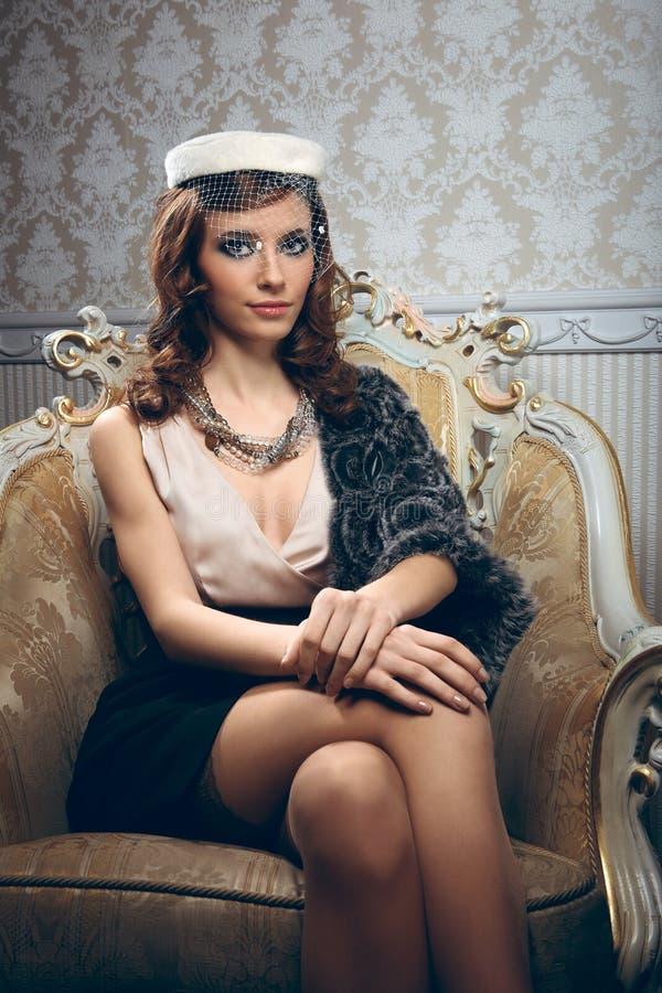 Portret van vrij jonge vrouw stock fotografie