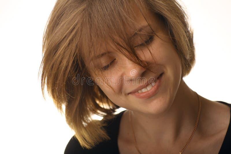 Portret van vrolijk glimlachend meisje royalty-vrije stock foto's