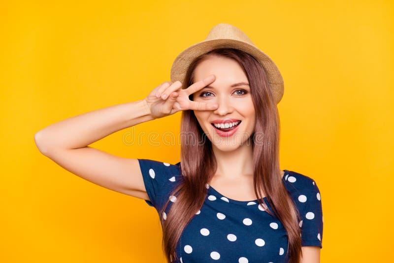 Portret van vrolijk, grappig, positief, mooi, grappig, grappig, lau royalty-vrije stock foto