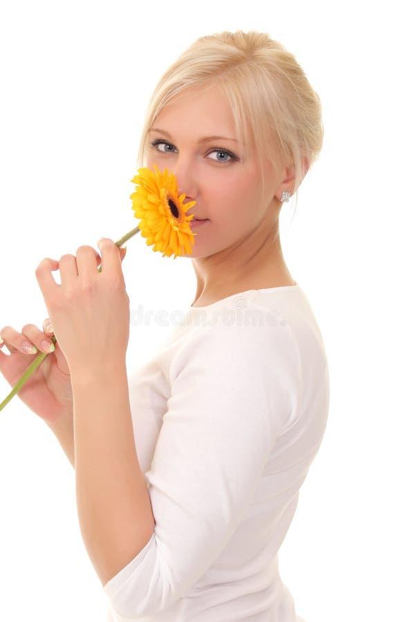 Portret van vrolijk meisje stock afbeelding