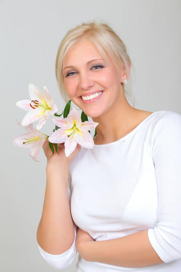 Portret van vrolijk meisje stock foto