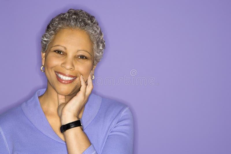 Portret van vrouw. royalty-vrije stock foto's