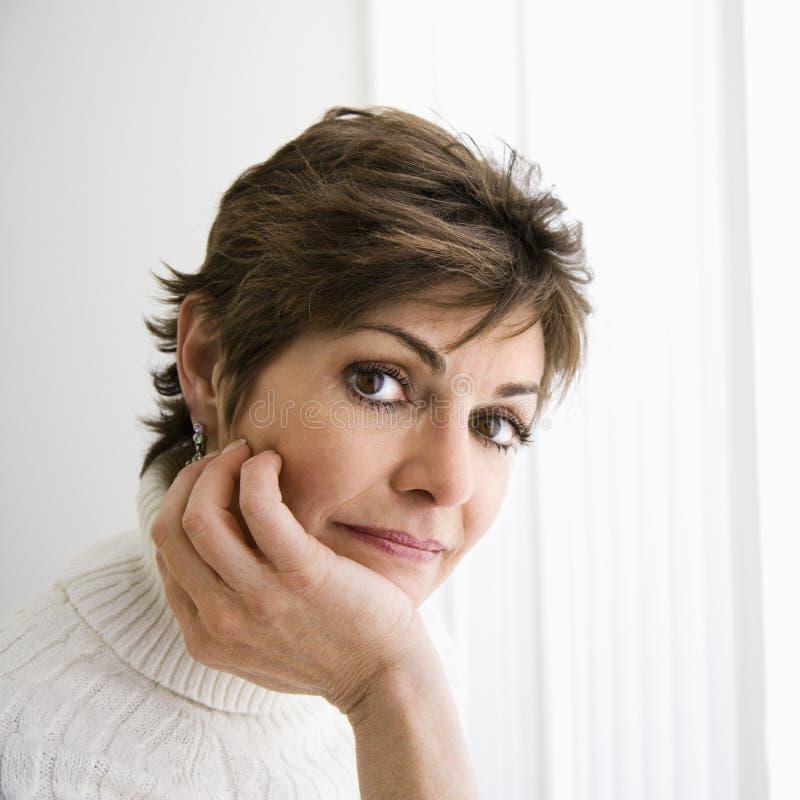 Portret van vrouw. stock foto