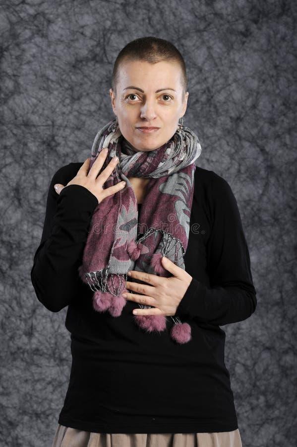 Portret van vrouw met sjaal royalty-vrije stock foto's