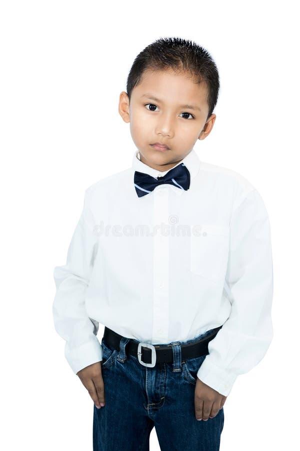 Portret van weinig Aziatische jongen stock afbeeldingen