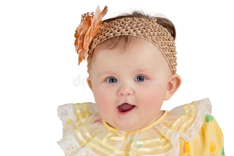 Portret van weinig gelukkig meisje met een flard stock foto's