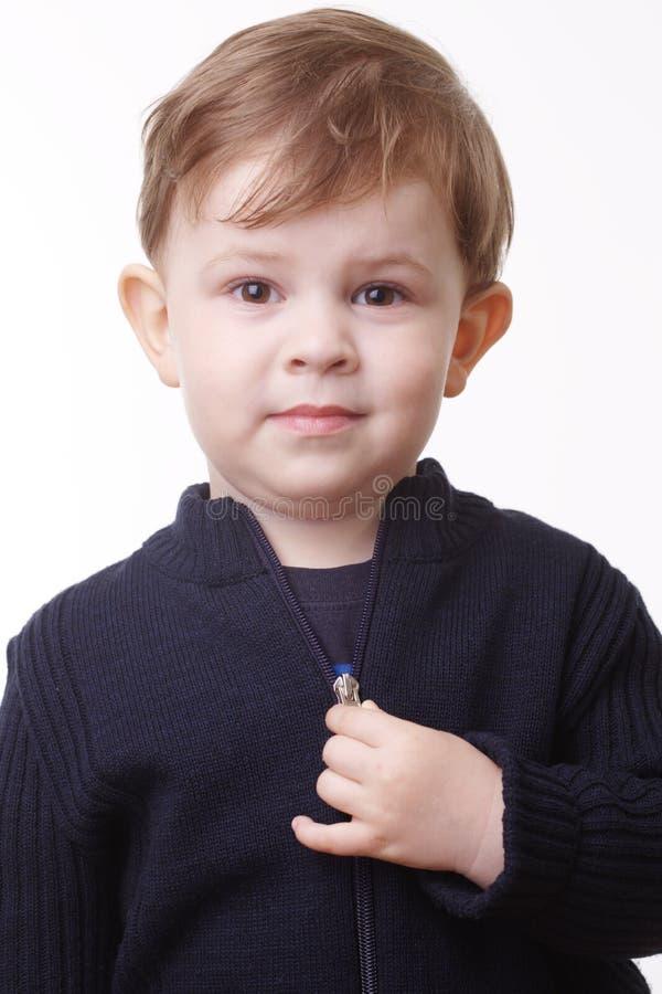 Portret van weinig jong geitje stock afbeeldingen