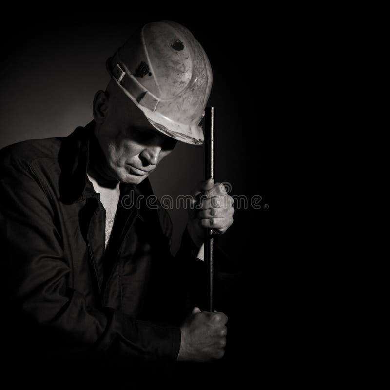 Portret van worke stock afbeelding