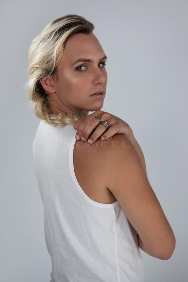 Portret van zekere transsexueel royalty-vrije stock fotografie