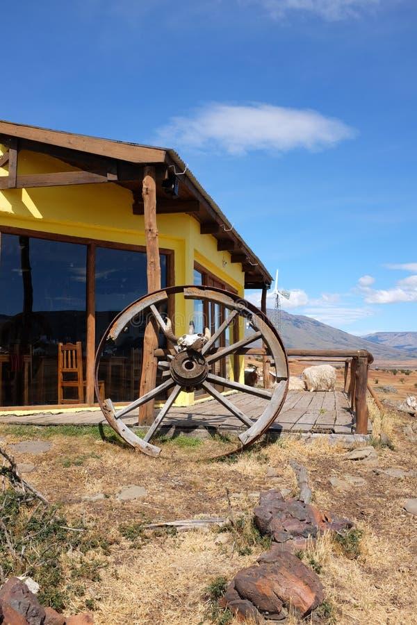 Portret van Zuiden Patagonian hacienda stock afbeelding
