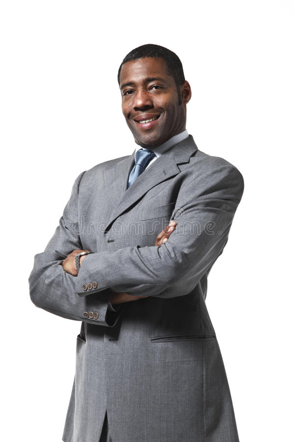 Portret van zwarte zakenman royalty-vrije stock fotografie