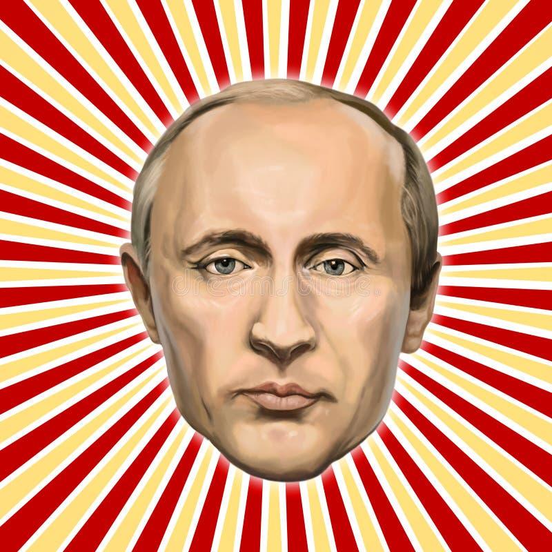 Portret Vladimir Putin, prezydent federacja rosyjska