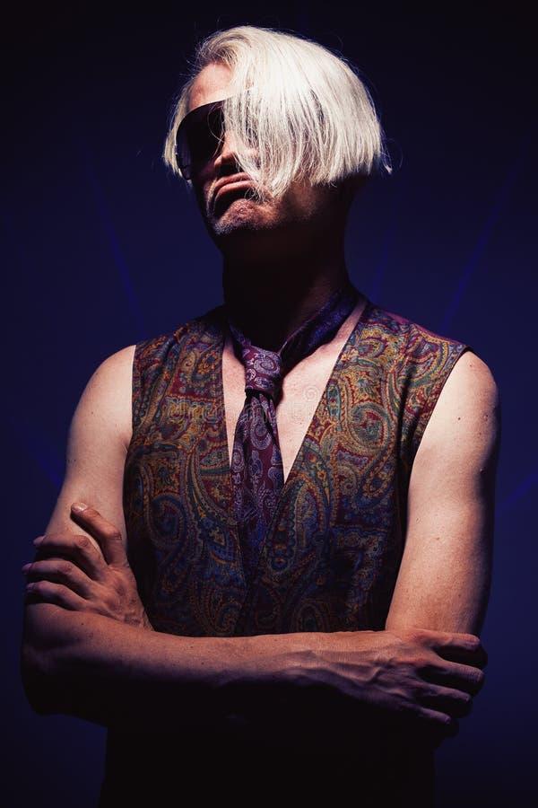 Portret W Średnim Wieku Clubber zdjęcie royalty free