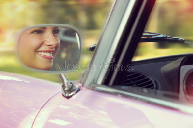 Portret w samochodzie fotografia stock