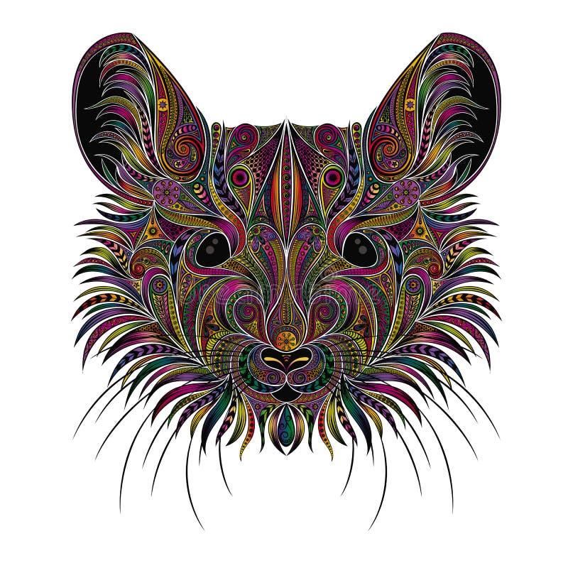 Portret wektorowa mysz od wzorów Symbol nowy rok 2020 royalty ilustracja
