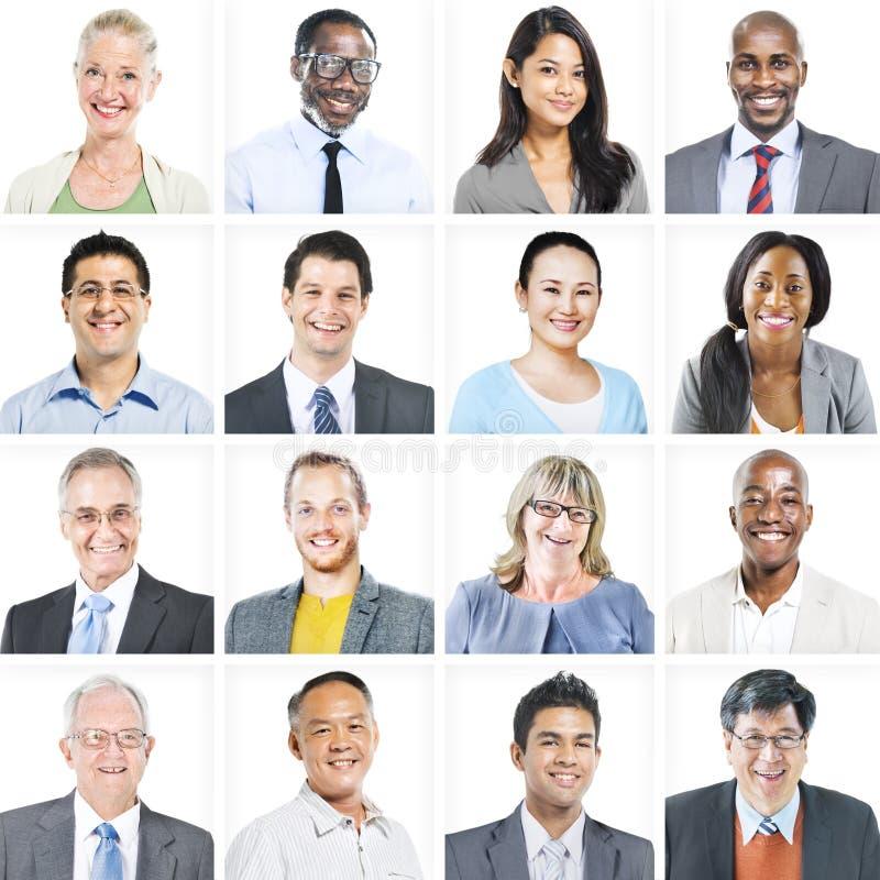 Portret Wieloetniczni Różnorodni ludzie biznesu zdjęcia royalty free
