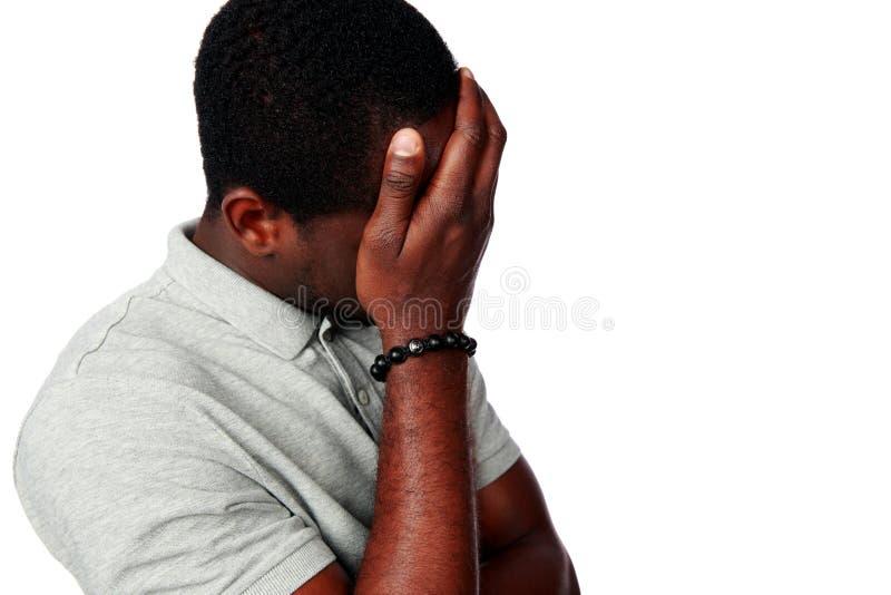 Portret wzburzony afrykański mężczyzna zdjęcia stock