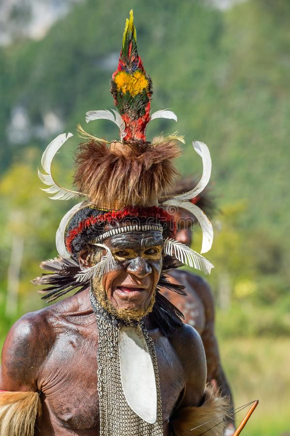 Portret Yali Mabel szef Dani Dugum plemię obrazy royalty free