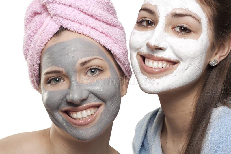 Portret z maskami fotografia stock