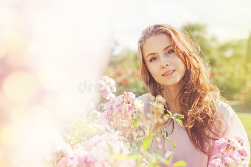 Portret z różami obrazy stock