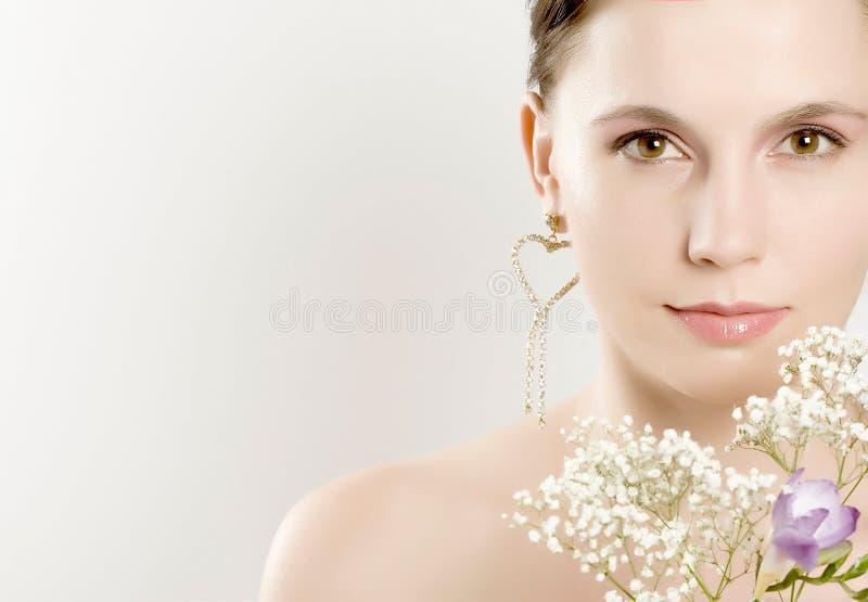 portreta ładni kobiety potomstwa obraz royalty free