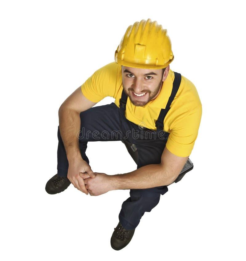 portreta świetny ręczny pracownik obrazy stock