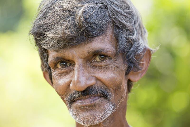 Portreta żebraka mężczyzna w Południowym Sri Lanka zdjęcie royalty free