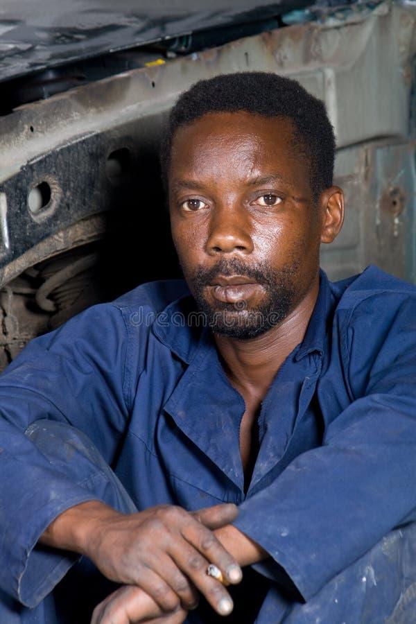 portreta afrykański ręczny pracownik fotografia royalty free